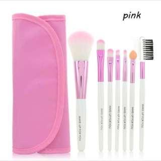 BNIB 7-Piece Makeup Unicorn Brush Set (Pink)