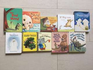 Rare set of 10 Board Books for Toddlers and Young Kids