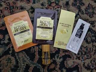 Paket ORI skinfood dan cosrx sample size