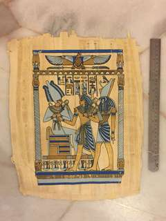 Egyptian painting on papyrus paper