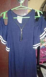 Straw Berry Navy Blue Dress (meet up)
