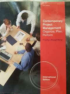 EPM contemporary project management textbook