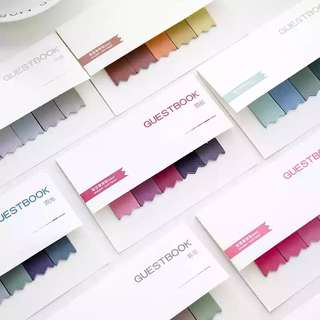 🚚 [In stock] Gradient Color Sticky Notes Strips / Post-it notes
