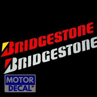 Bridgestone Reflective decal