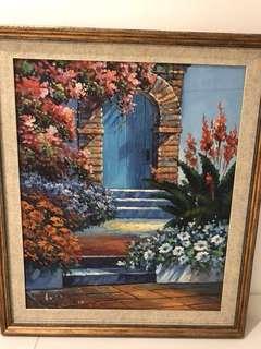 Oil paint garden