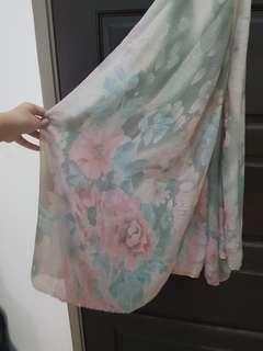 Floral Cotton Long Scarf