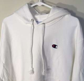 Authentic Champion White Hoodie
