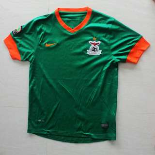Nike Zambia Football Soccer Shirt Jersey Africa Cup of Nation 2013 Size M
