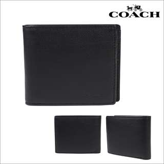 COACH 74991 COMPACT ID WALLET IN SPORT CALF LEATHER