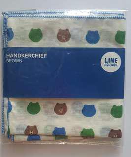 Line friends brown 熊大紗巾 全新made in korea包平郵