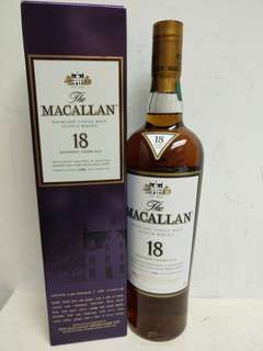 Macallan Single Malt Ages 18 Years Scotch Whisky 麥卡倫18年 1996年 700ml