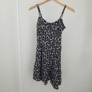 Cotton On Black Hearts Casual Dress