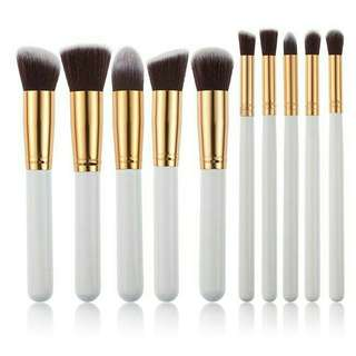 Brush set 10pcs (white gold)