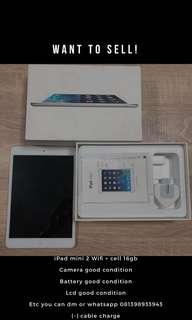 iPad mini 2 Wifi + Cell 16gb