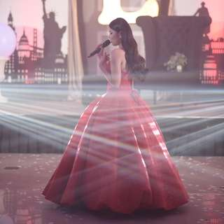 Red Ballgown For Rent