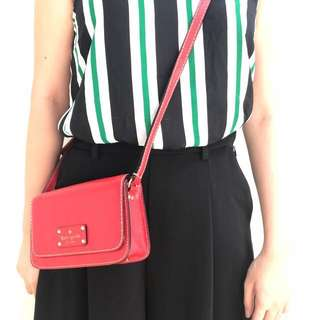Authentic Kate Spade Red Sling Bag