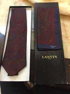 Lanvin tie and pocket squate