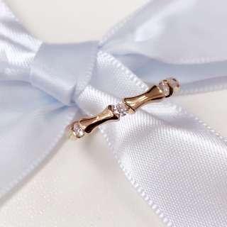 18K玫瑰金鑽石戒指💍