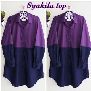 Syakila top ungu