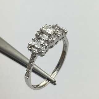 18K白金戒指 68份鑽石 18K Withe gold Ring 0.68ct Diamond 可議價