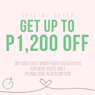 GuavaPass Promo — up to P1,200 off!