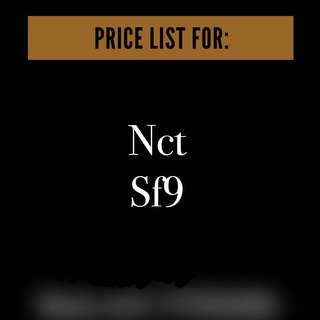 Price List NCT & SF9