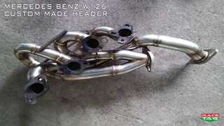 MERCEDES BENZ W126 CUSTOM MADE HEADER