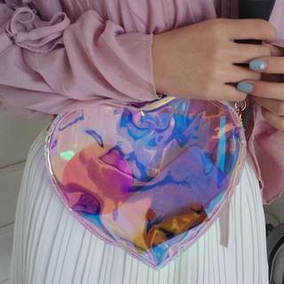 Holographic colourful tote hologram