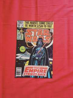 Vintage comic. Star Wars Empire Strikes Back