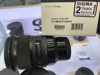 Sigma 50mm F1.4 DG HSM ART LENS (Sony FE MOUNT) Available now