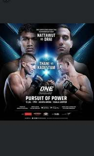 One Championship 2018 ( 2 Tickets)