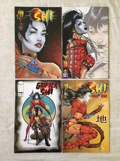 SHI-fictional lady warrior created by William Tucci- 10books for $15