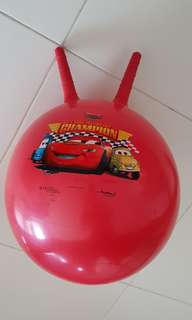 Cars bouncing ball with grips