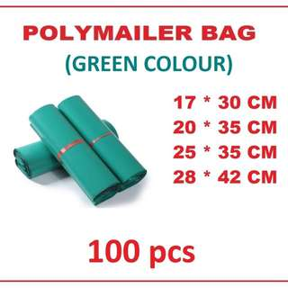 Polymailer/Poly Mailer Bags (Green colour)