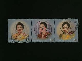 Thailand 2012 80th Anniversary of the Birthday of HM Queen Sirikit 3V Used