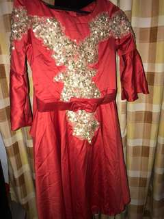 Dress Red n Gold