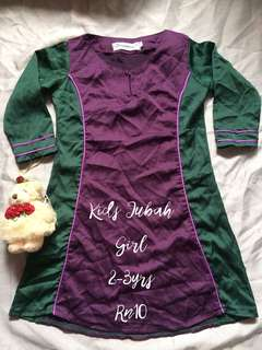 Kids Jubah Girl 2-3 yrs