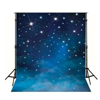 Starry Night Sky Photo Booth Back Drop