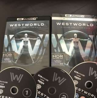 (4k 3-Disc Only) Westworld Season One 3-disc 4K UHD Blu-ray