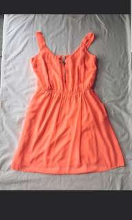 Dress Orange stradivarius