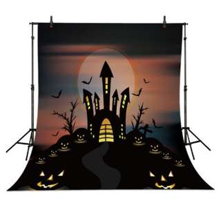 Halloween Party Photbooth Backdrop