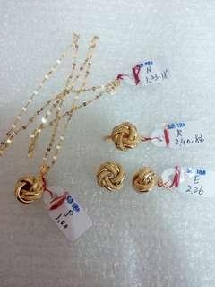 Authentic Gold Jewelry Set