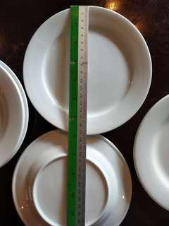 White porcelain side plates