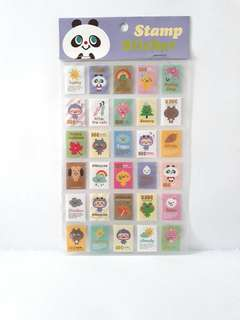 Free mailing Cute stamp stickers set