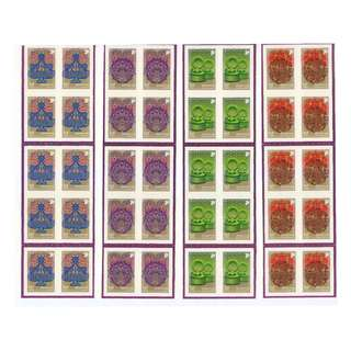 SINGAPORE 2010 FESTIVALS 4 BOOKLETS OF 10 10 STAMPS EACH IN MINT MNH UNUSED CONDITION
