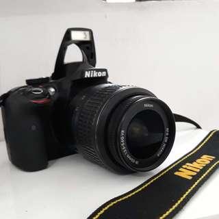 Nikon D3300 + 2 Lens   DSLR Camera