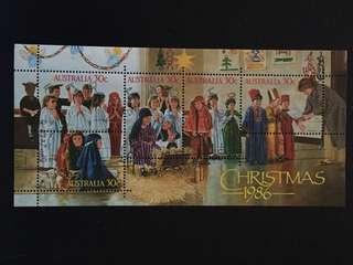 Australia 1986 Christmas MS Used