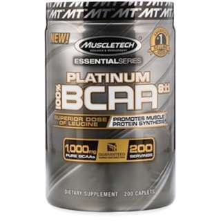 SALE Muscletech, 100% Platinum BCAA 8:1:1, 1,000 mg, 200 Caplets