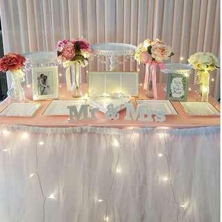 Dessert Table Setup_Wedding / ROM / Birthday / Event