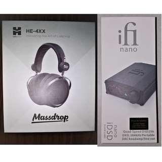FS: Hifiman HE-4XX and ifi nano iDSD Black Label